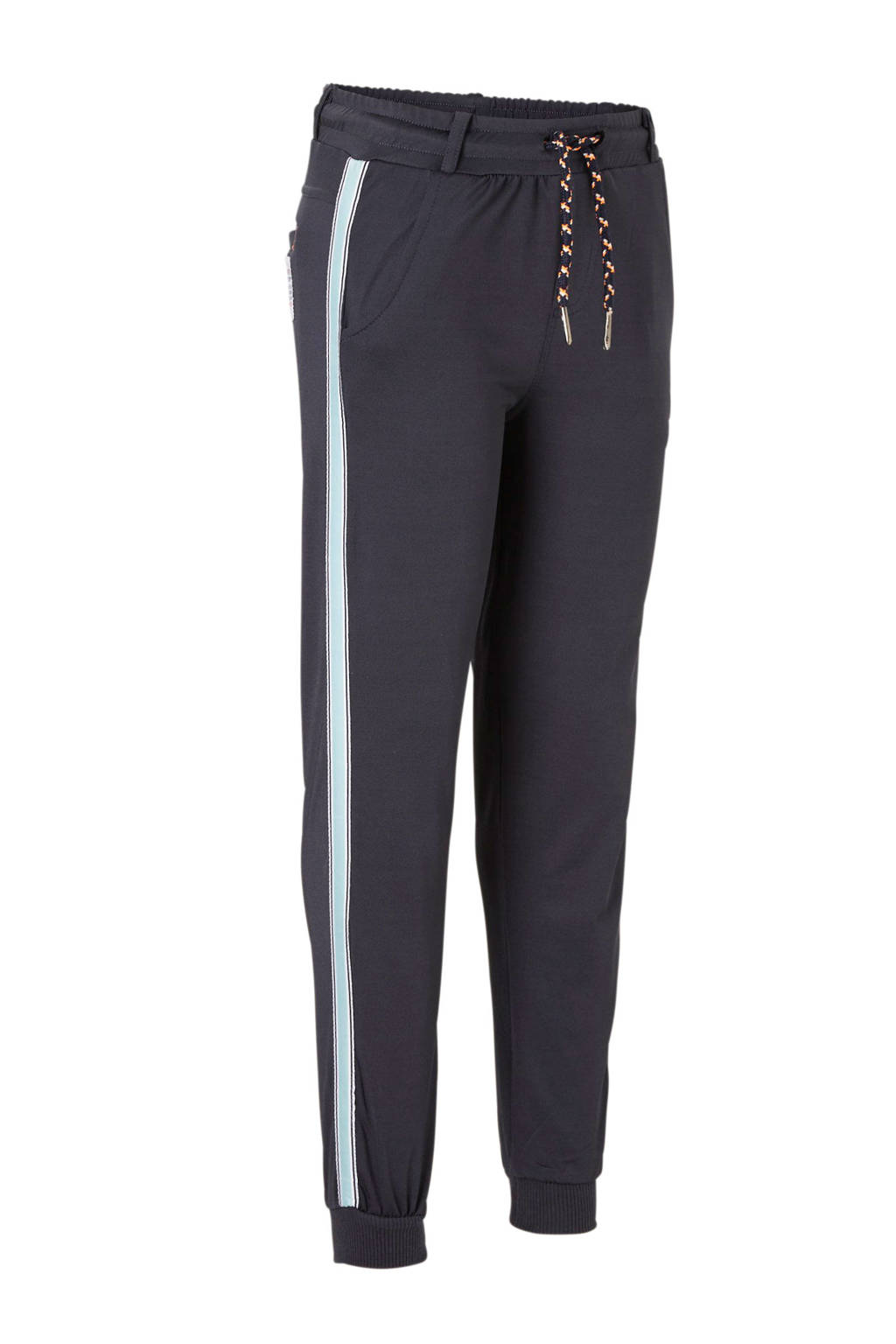 Quapi broek Sieger met zijbies donkerblauw, Donkerblauw/lichtblauw