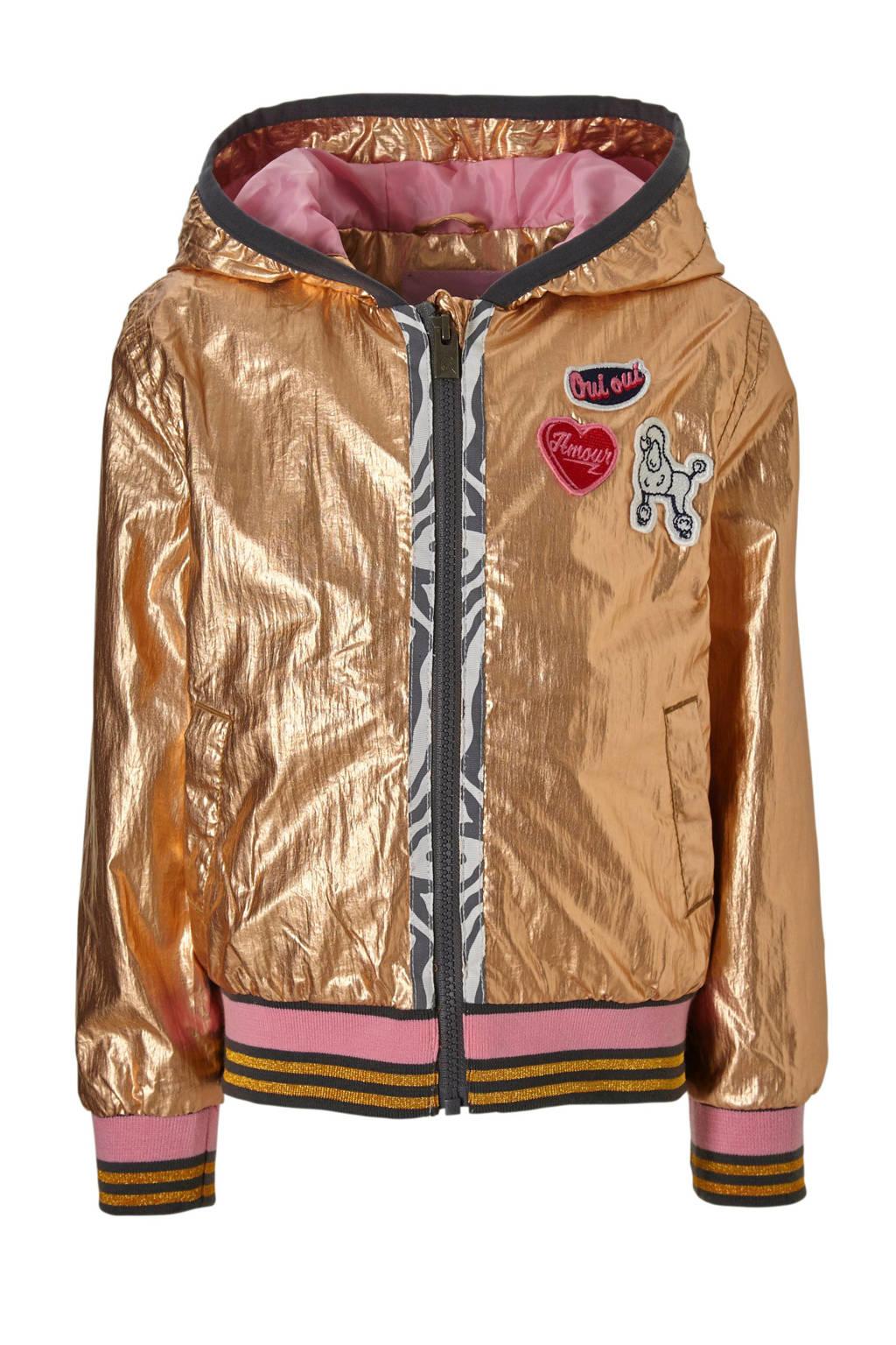 Quapi zomerjas met metallic look Sarella licht koper, Licht koper