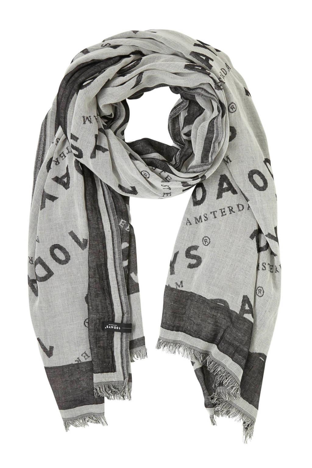 10DAYS sjaal zwart, Zwart/wit