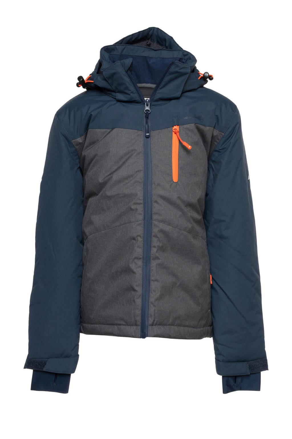 Mountain Peak ski-jack grijs/blauw, Grijs/blauw