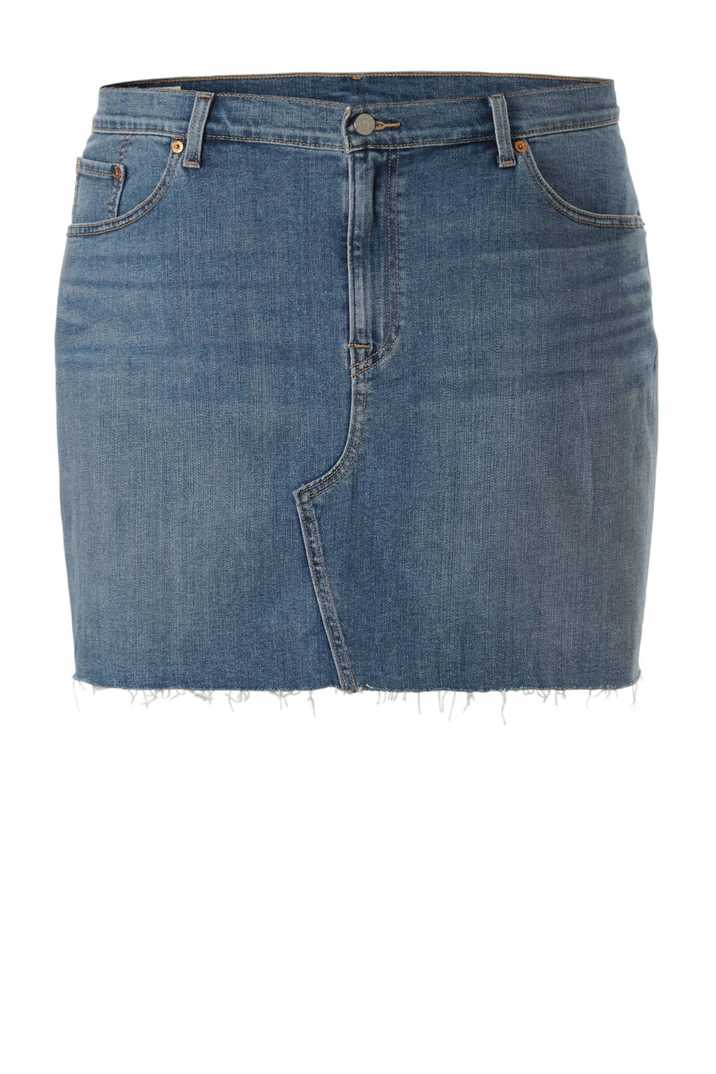 Levi's Plus denim rok, licht blauw