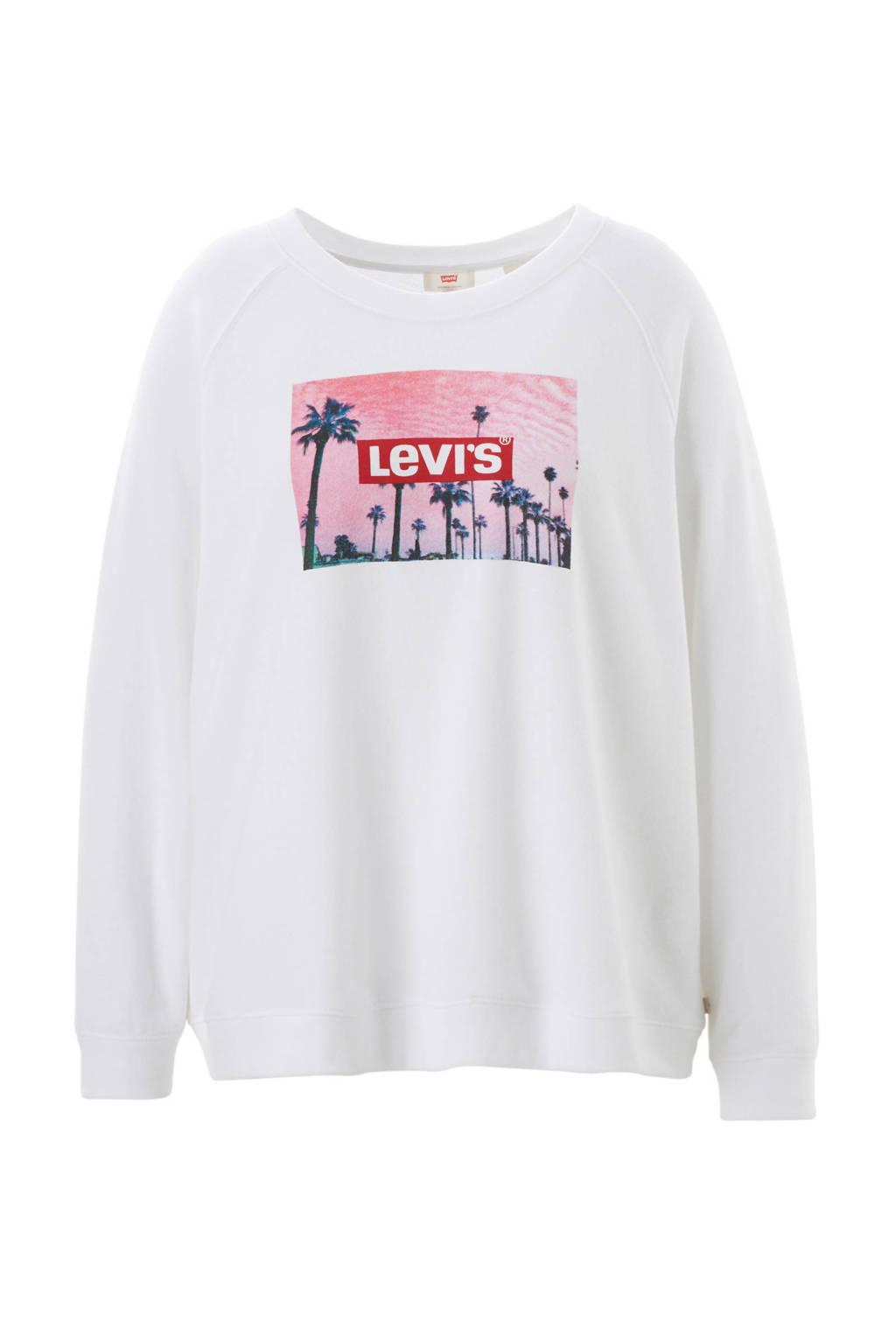 Levi's Plus logo sweater, Wit/roze