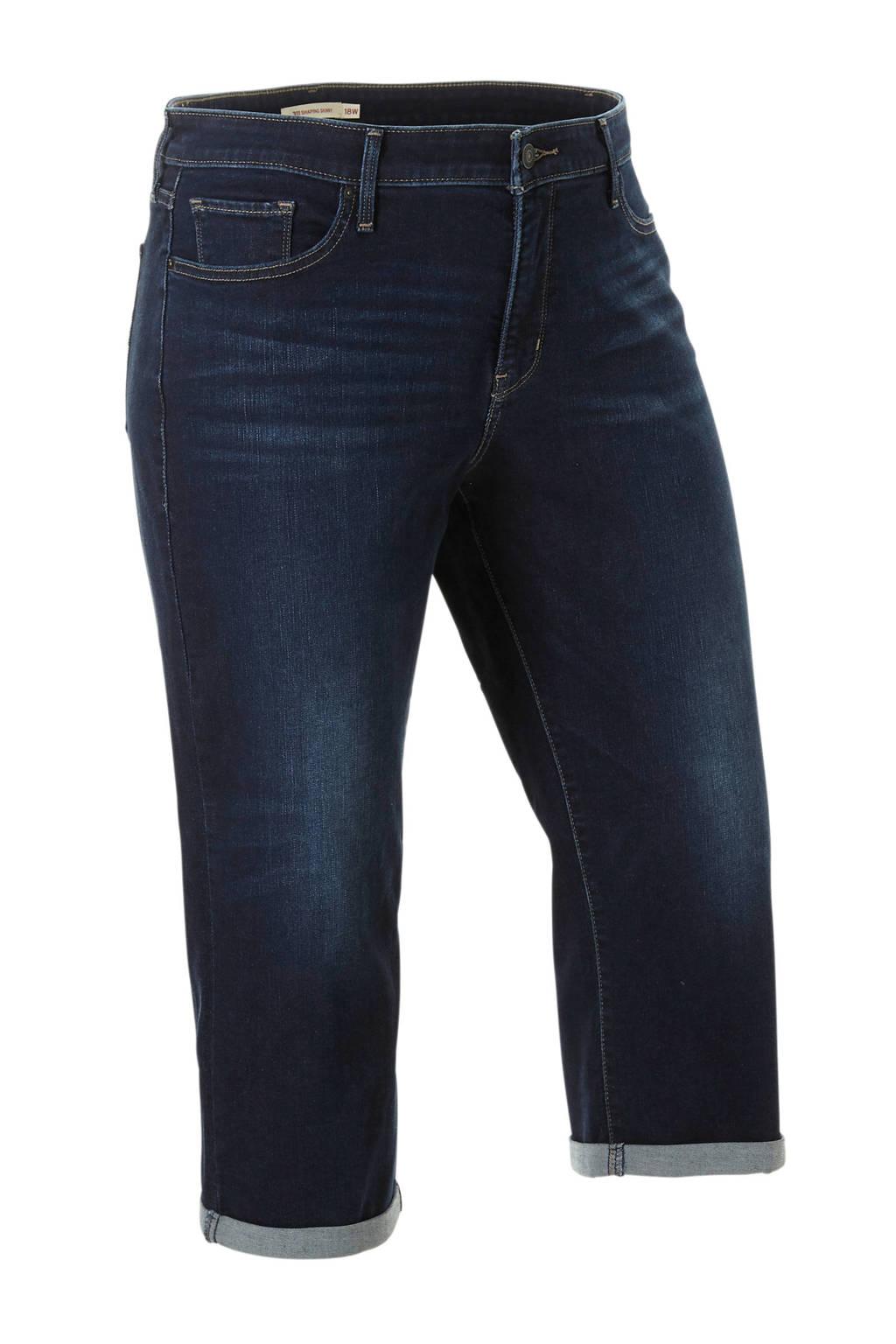 Levi's Plus capri jeans, Dark denim