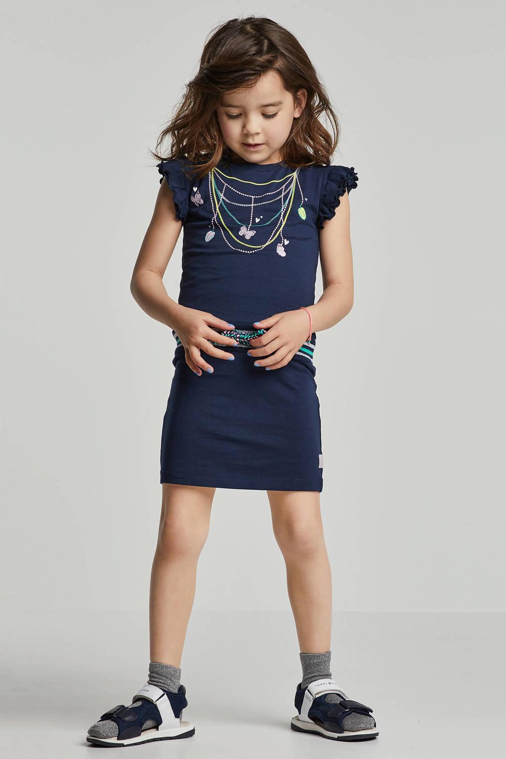 Quapi jurk Wiske met print donkerblauw, Donkerblauw