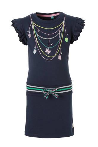 jurk Wiske met print donkerblauw