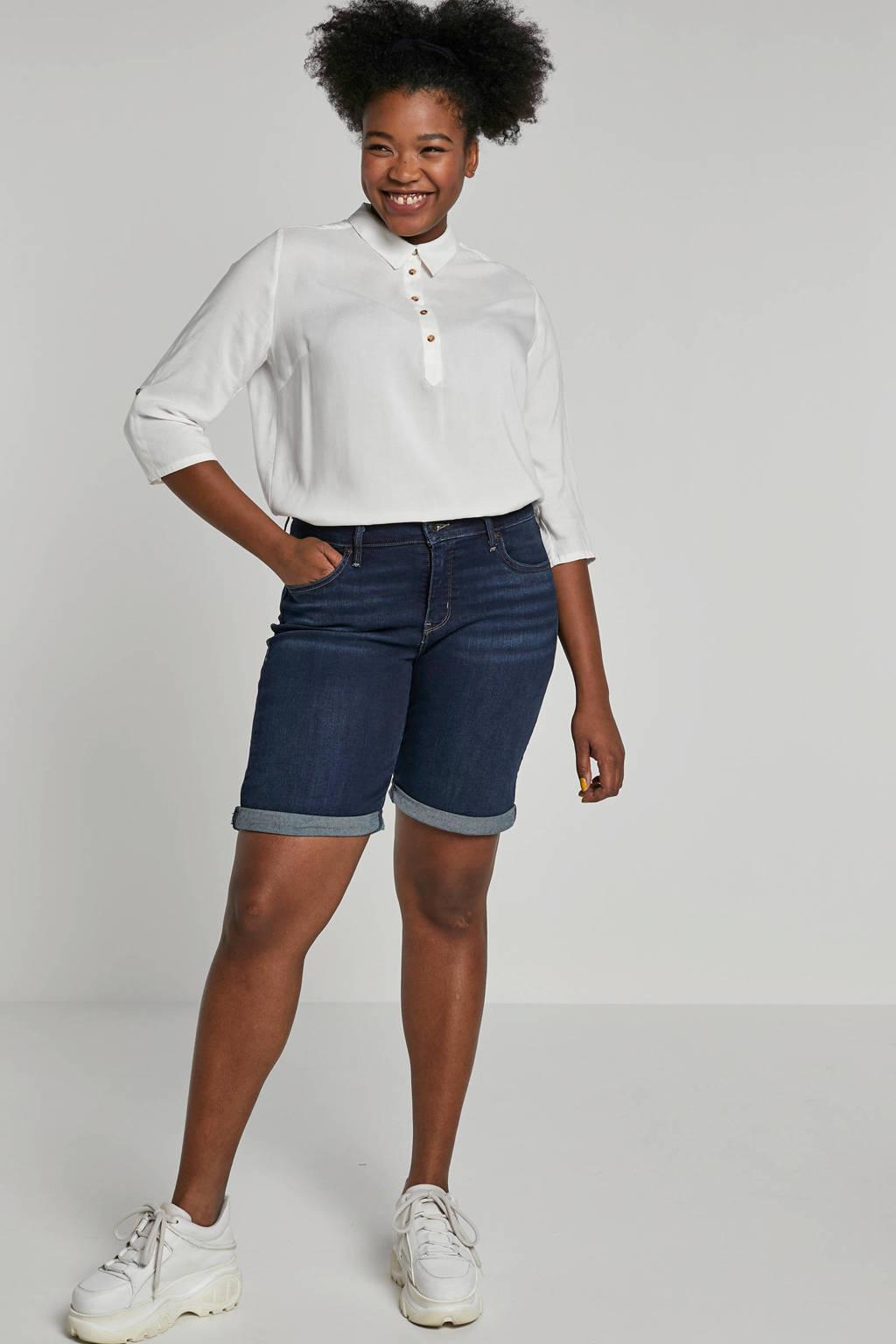 Levi's Plus jeans short donkerblauw, Donkerblauw