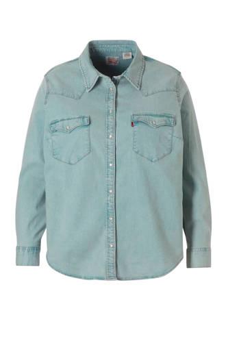 Plus denim blouse