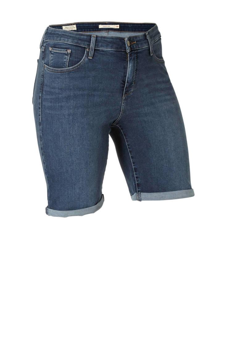 Levi's korte spijkerbroek korte Plus Levi's Plus spijkerbroek korte blauw blauw Plus Levi's rxaqRrwn