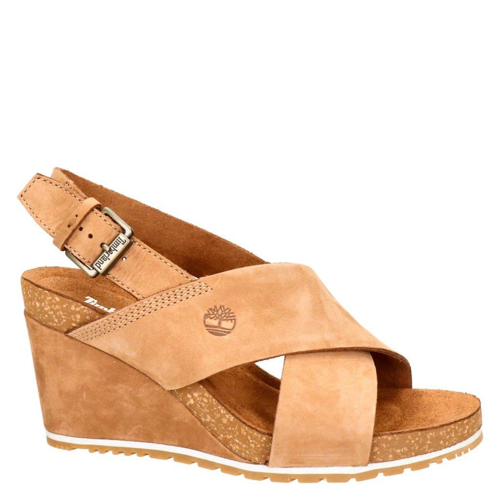 Timberland nubuck sandalettes, Cognac