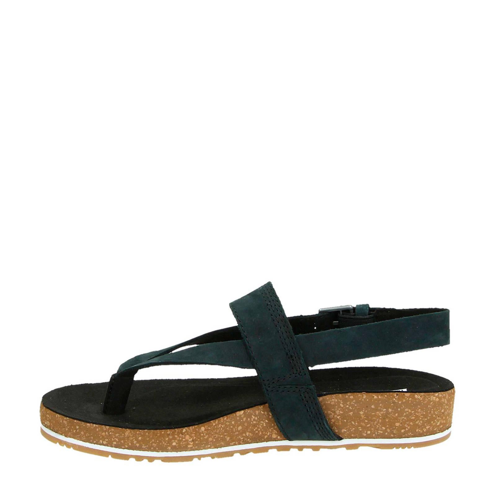 Malibu Waves nubuck sandalen zwart