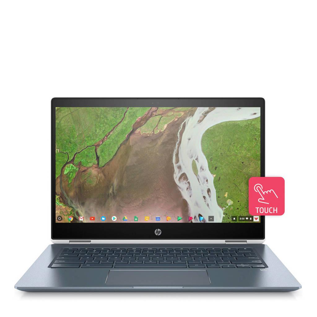 HP  Chromebook x360 14-DA0300ND 2 in 1 laptop, Blauw, wit