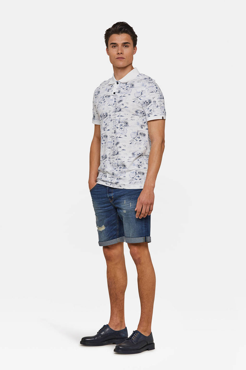 WE Fashion Blue Ridge regular fit jeans short, Used denim