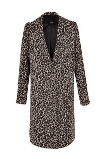 River Island coat met panterprint (dames)