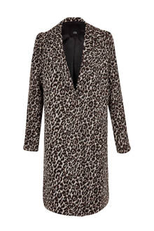 coat met panterprint