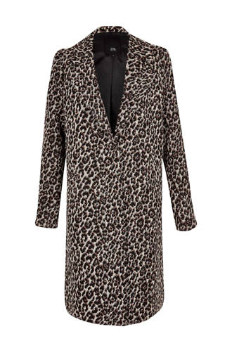 coat met panterprint