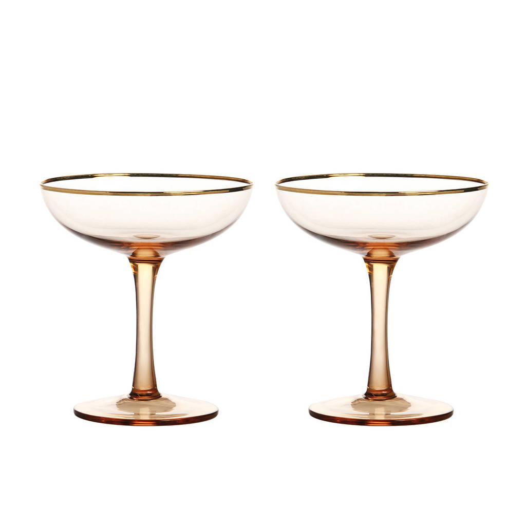 &k amsterdam champagneglas (Ø10 cm) (set van 2), Roze