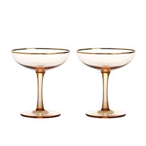 champagneglas (Ø10 cm) (set van 2)
