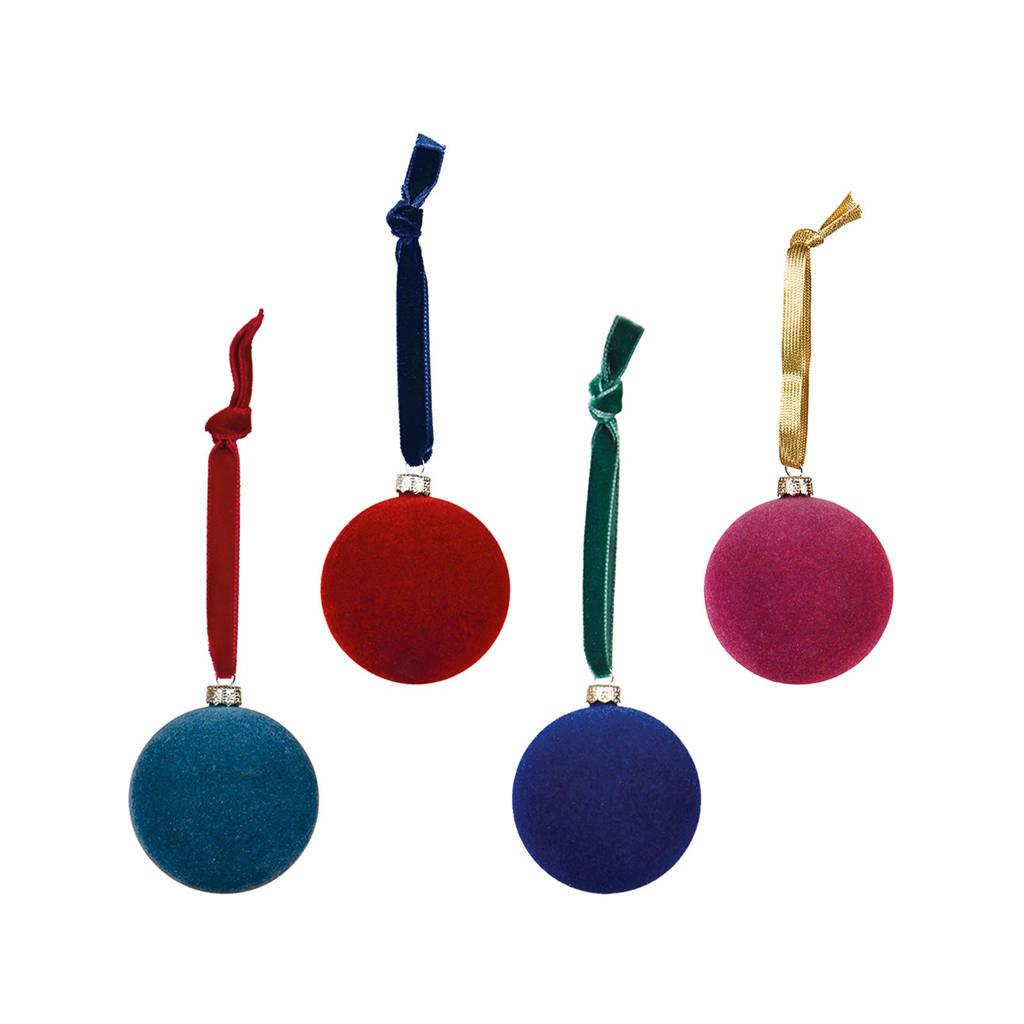&k amsterdam kerstballen (Ø6 cm) (set van 4), Multi