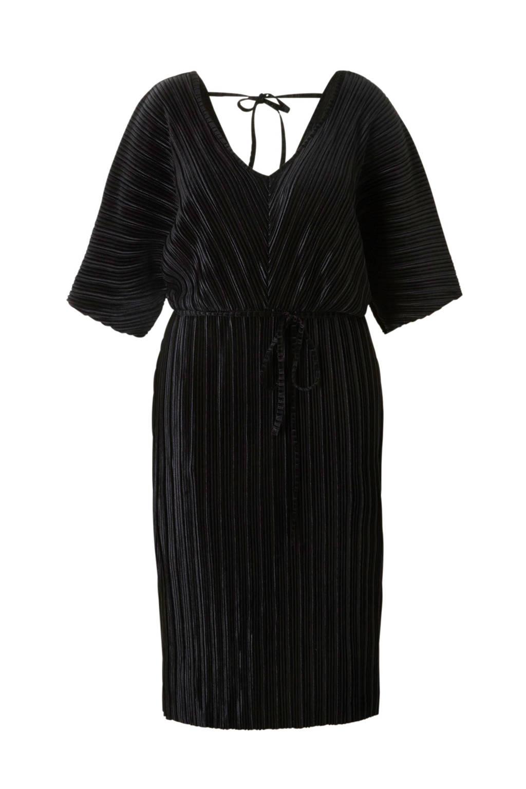 River Island Plus fluwelen jurk, Zwart