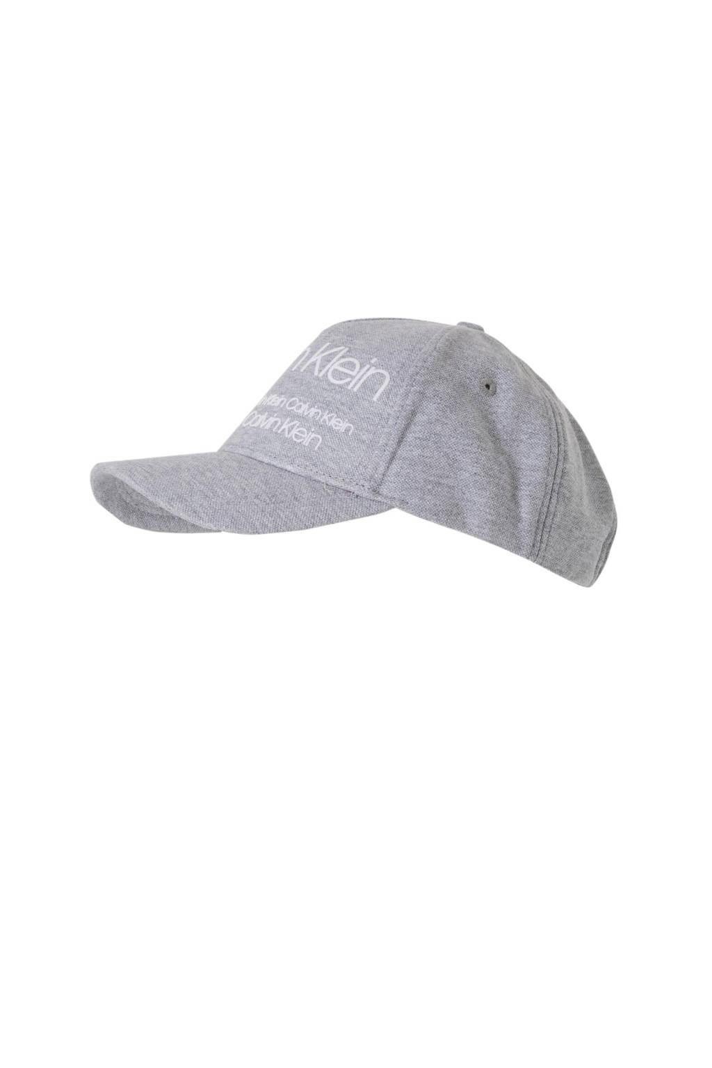 Calvin Klein pet INDUSTRIAL PIQUE' BASEBALL CAP, Grijs melange