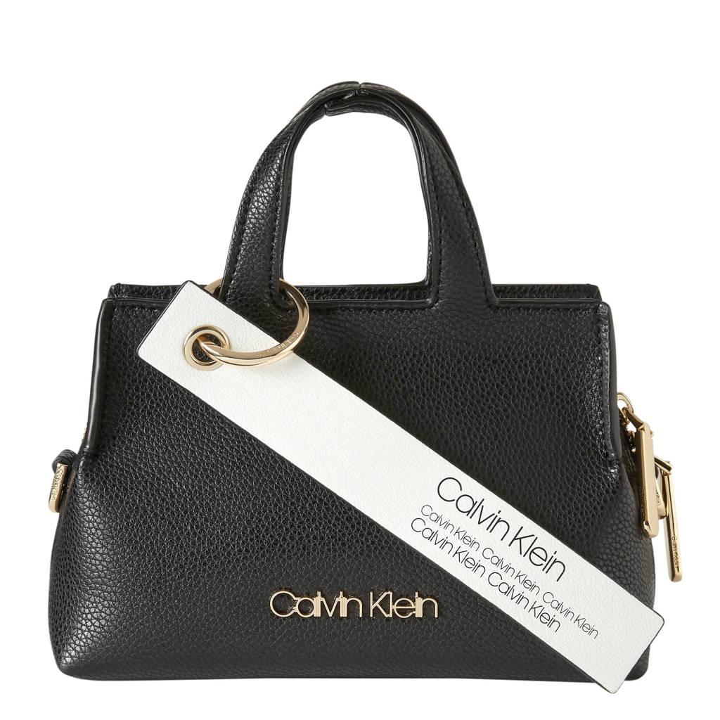 Calvin Klein handtas Neat Small zwart, Zwart
