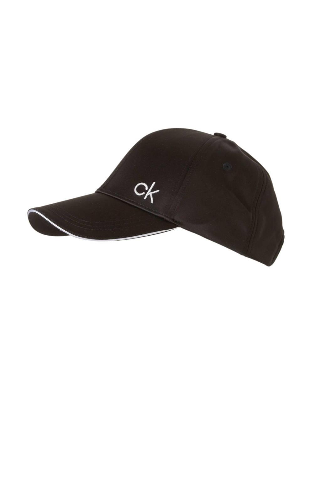 Calvin Klein pet SATIN PIPING CAP Zwart