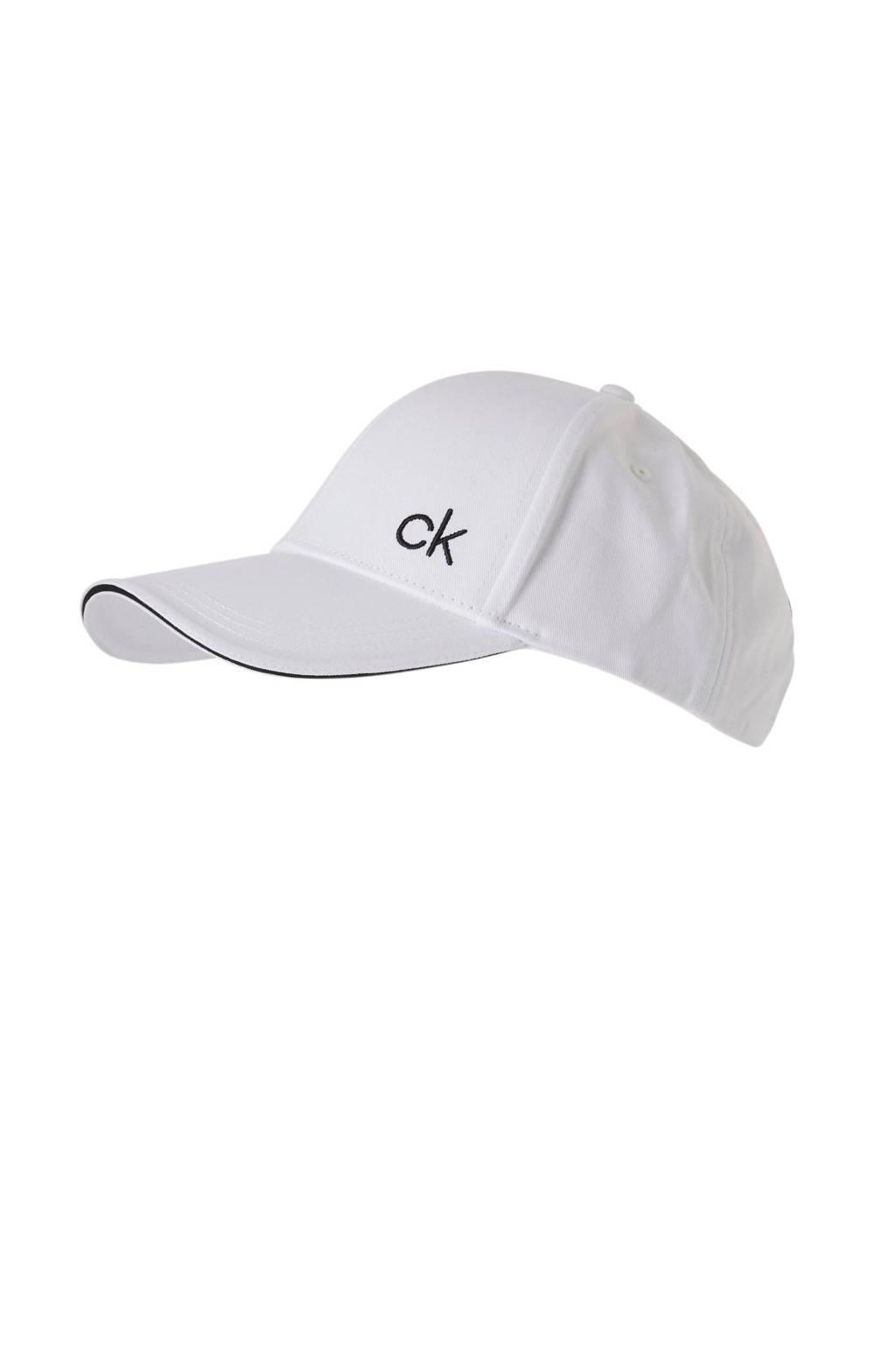 Calvin Klein pet CONTRATS EDGE CAP, Wit