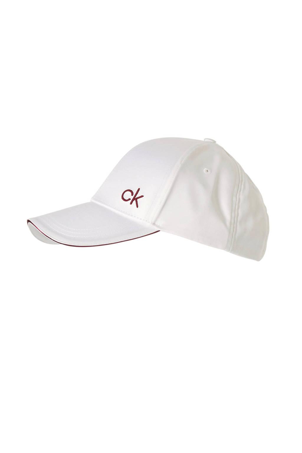 Calvin Klein pet SATIN PIPING CAP Wit