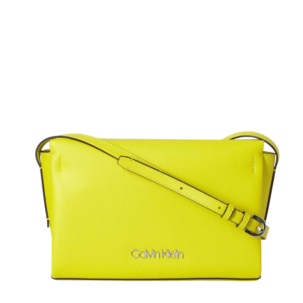 Calvin Klein   crossbody tas geel, Geel