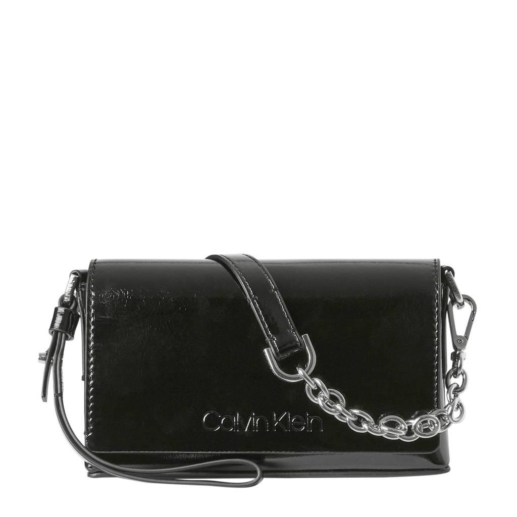 Calvin Klein crossbody tas Dressed Up Pouch On Chain zwart, Zwart