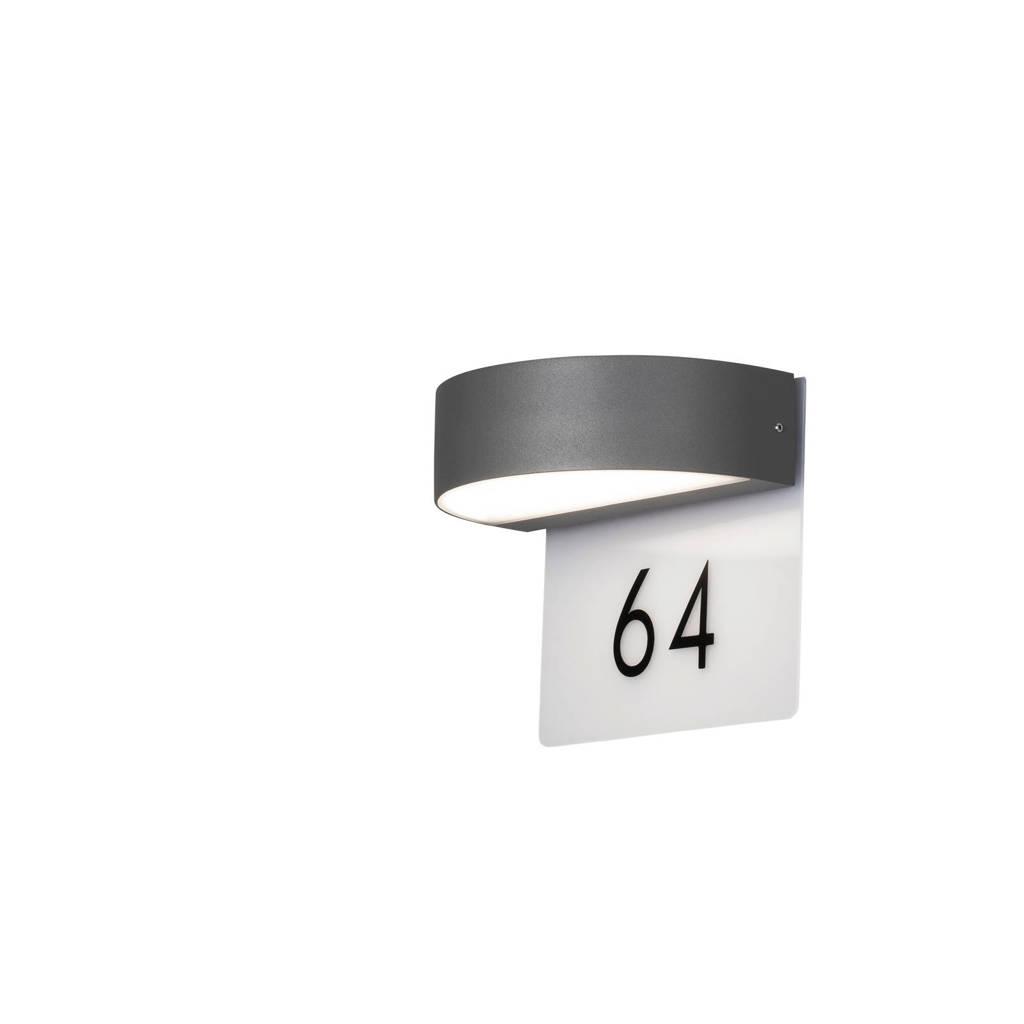 Konstsmide PowerLED wandlamp Monza, Antraciet