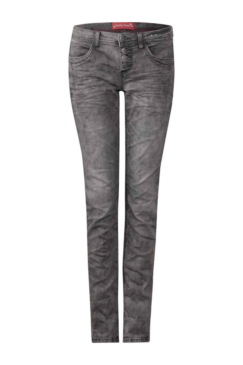 Street One slim fit jeans Crissi, Grijs