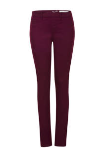 Miss Etam Regulier slim fit tregging aubergine (dames)
