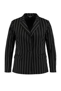 MS Mode blazer met krijtstreep zwart (dames)