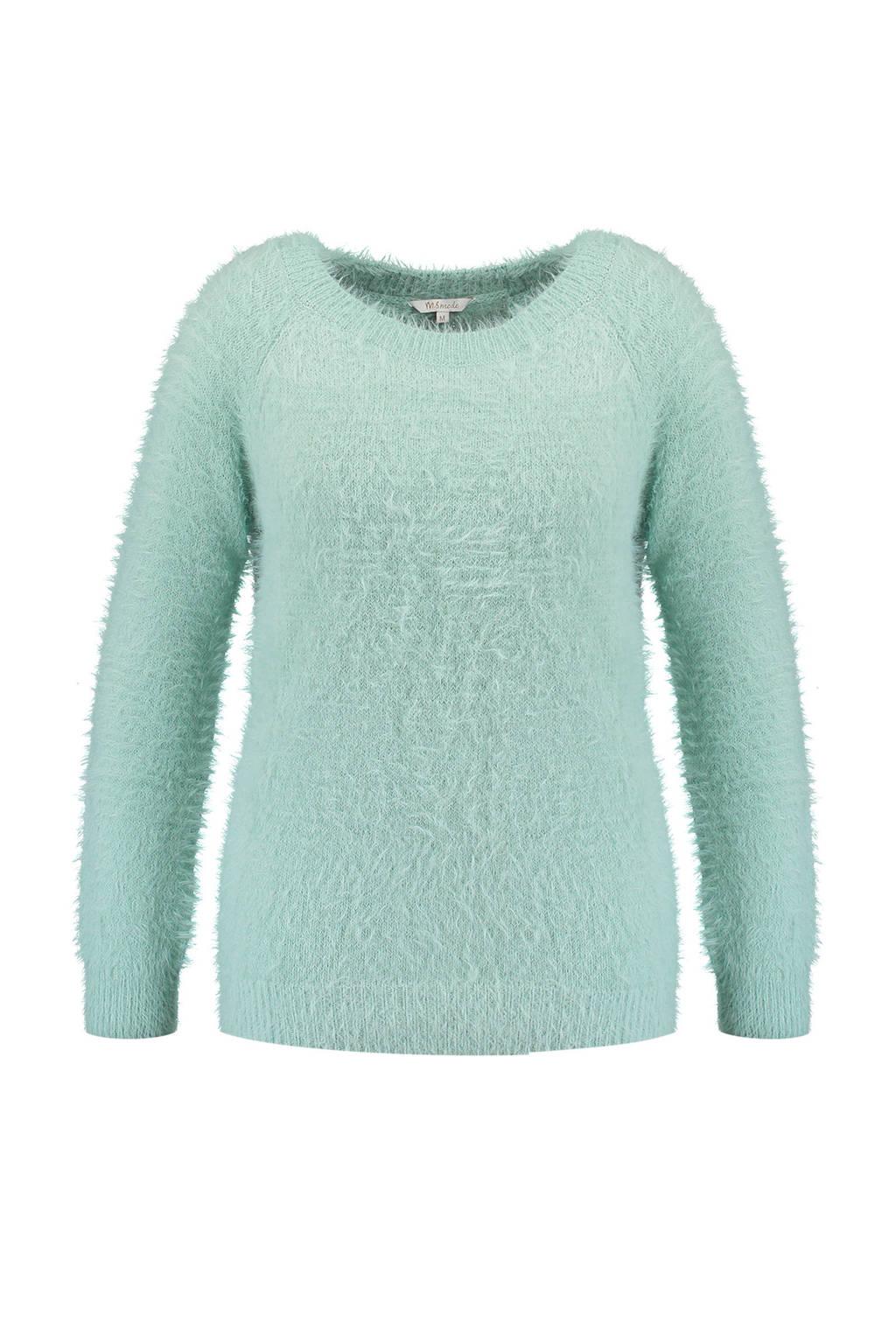 MS Mode fluffy trui, licht blauw