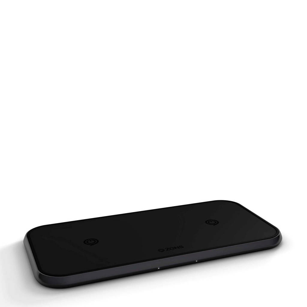 ZENS Qi dual wireless oplader, Zwart