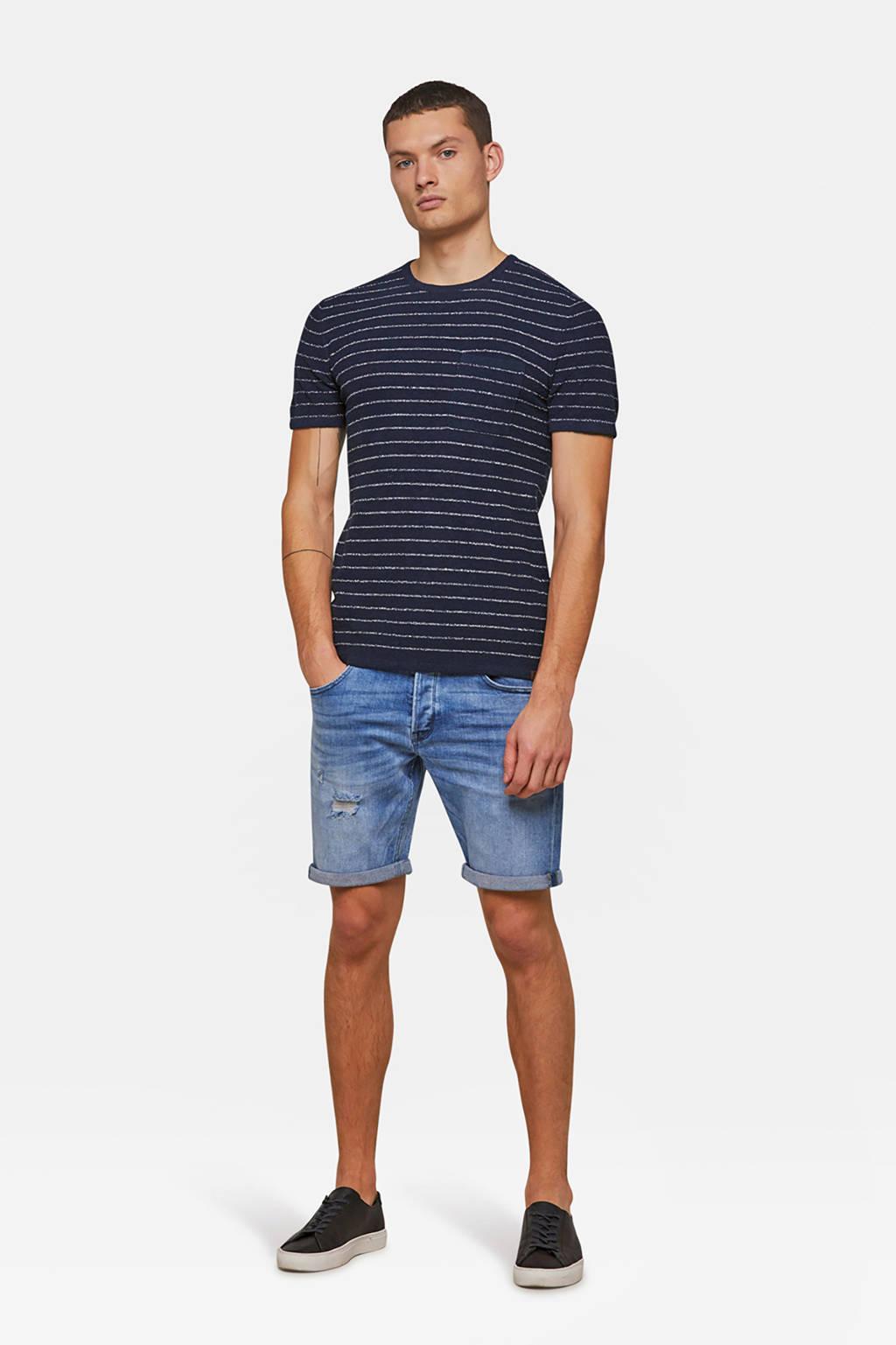 WE Fashion Blue Ridge regular fit jeans short 5-Pocket, Lichtblauw