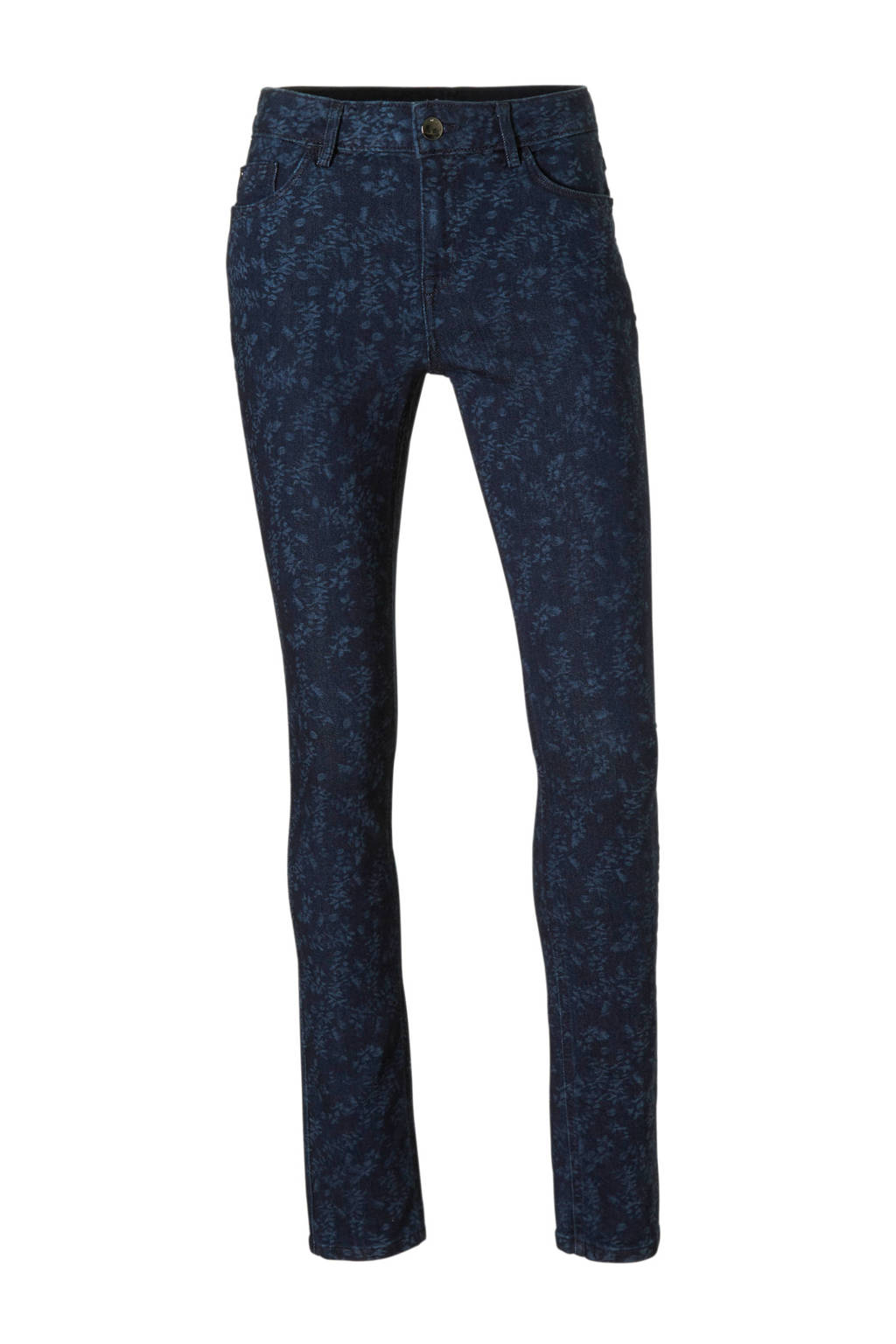 C&A The Denim skinny jeans met allover print, Dark denim