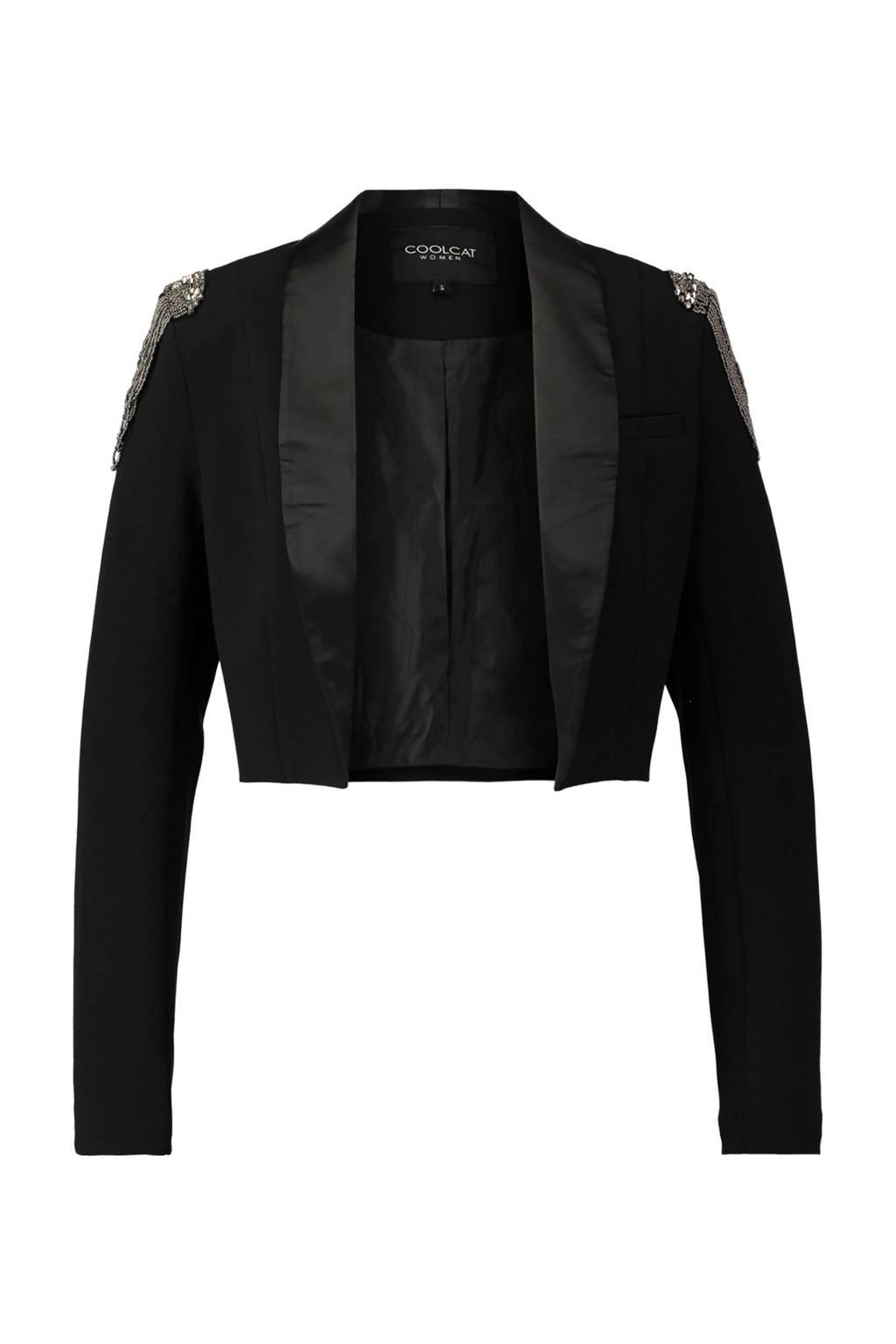 CoolCat blazer zwart, Zwart