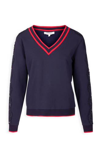 sweater met kant marine