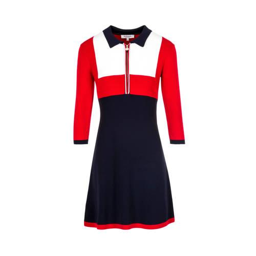 a-lijn jurk blauw-rood-wit