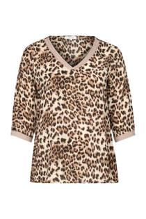 Paprika top met tijgerprint beige (dames)