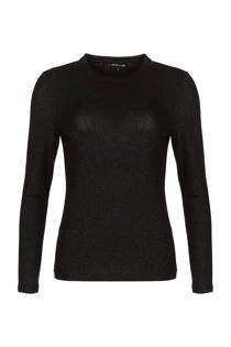 La Ligna top met lurex zwart (dames)
