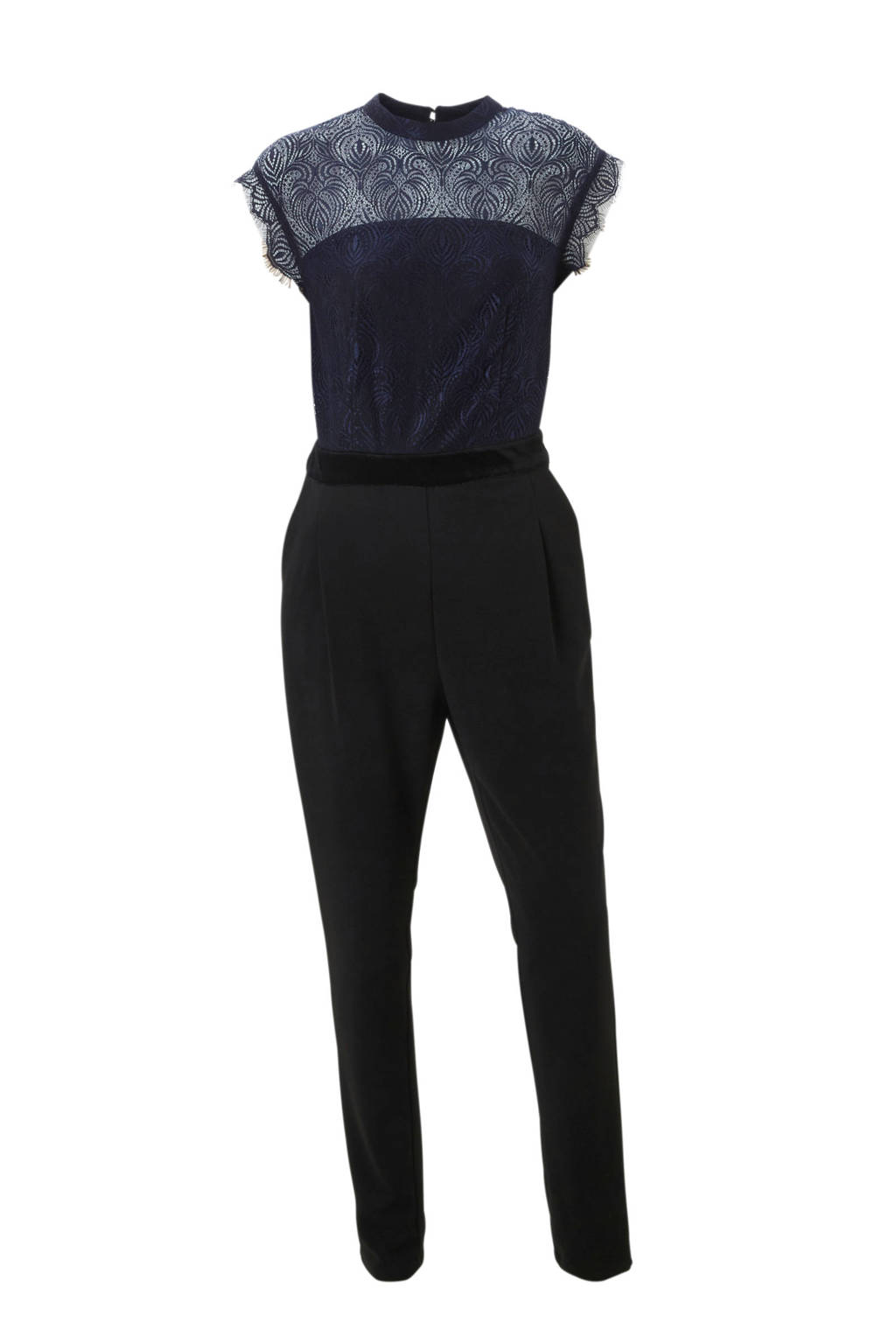 C&A Yessica jumpsuit met kant donkerblauw, Donkerblauw