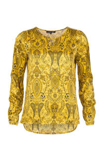 La Ligna top met paisley print geel (dames)