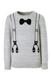 C&A Palomino trui met bretels en strik grijs (jongens)