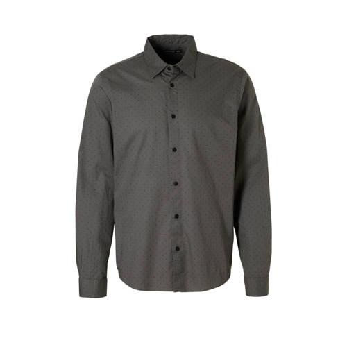 overhemd met print grjijs