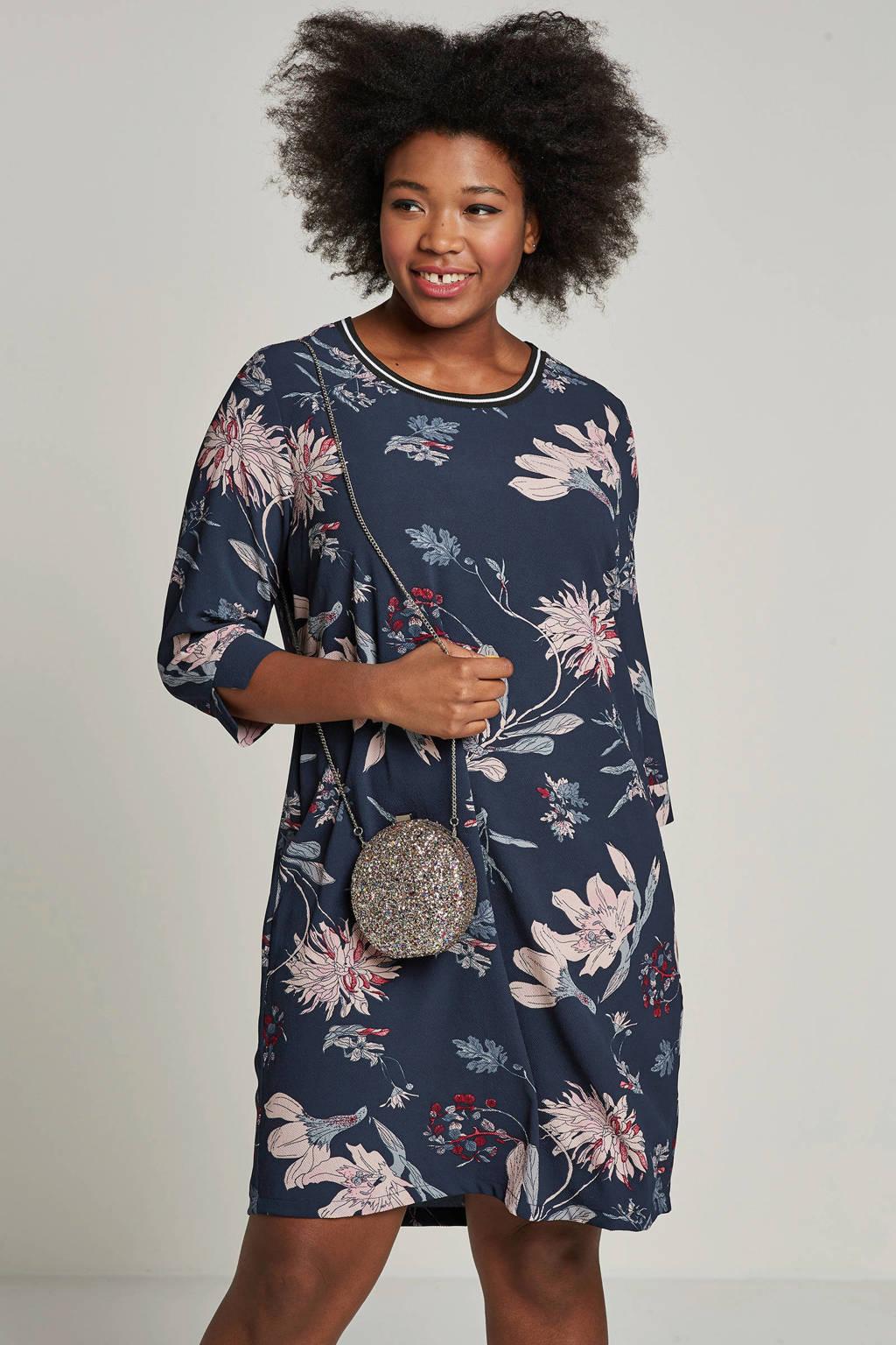 whkmp's great looks jurk met bloemenprint, Donkerblauw/roze