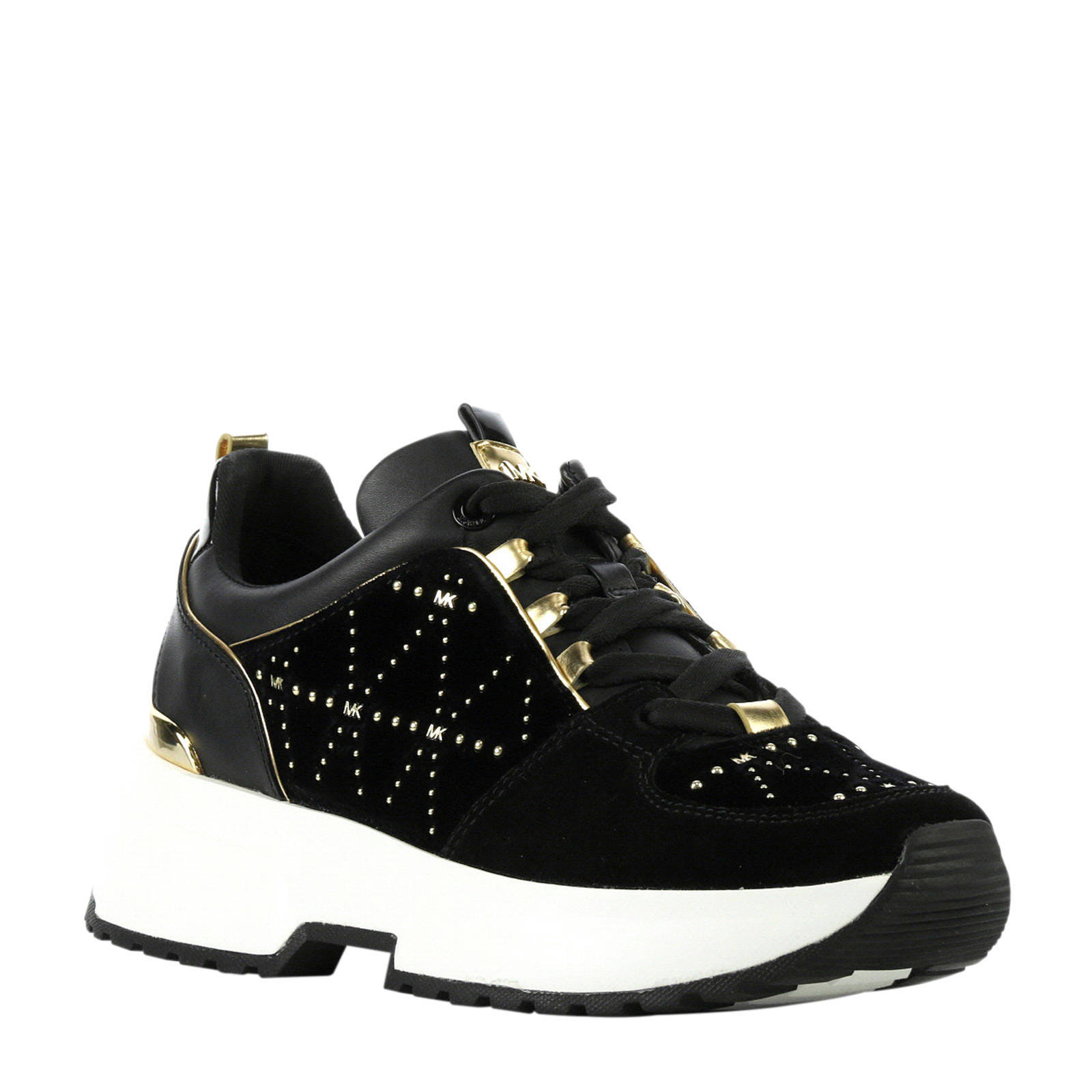 f642b54e5 Michael Kors Velvet Cosmo sneakers zwart | wehkamp