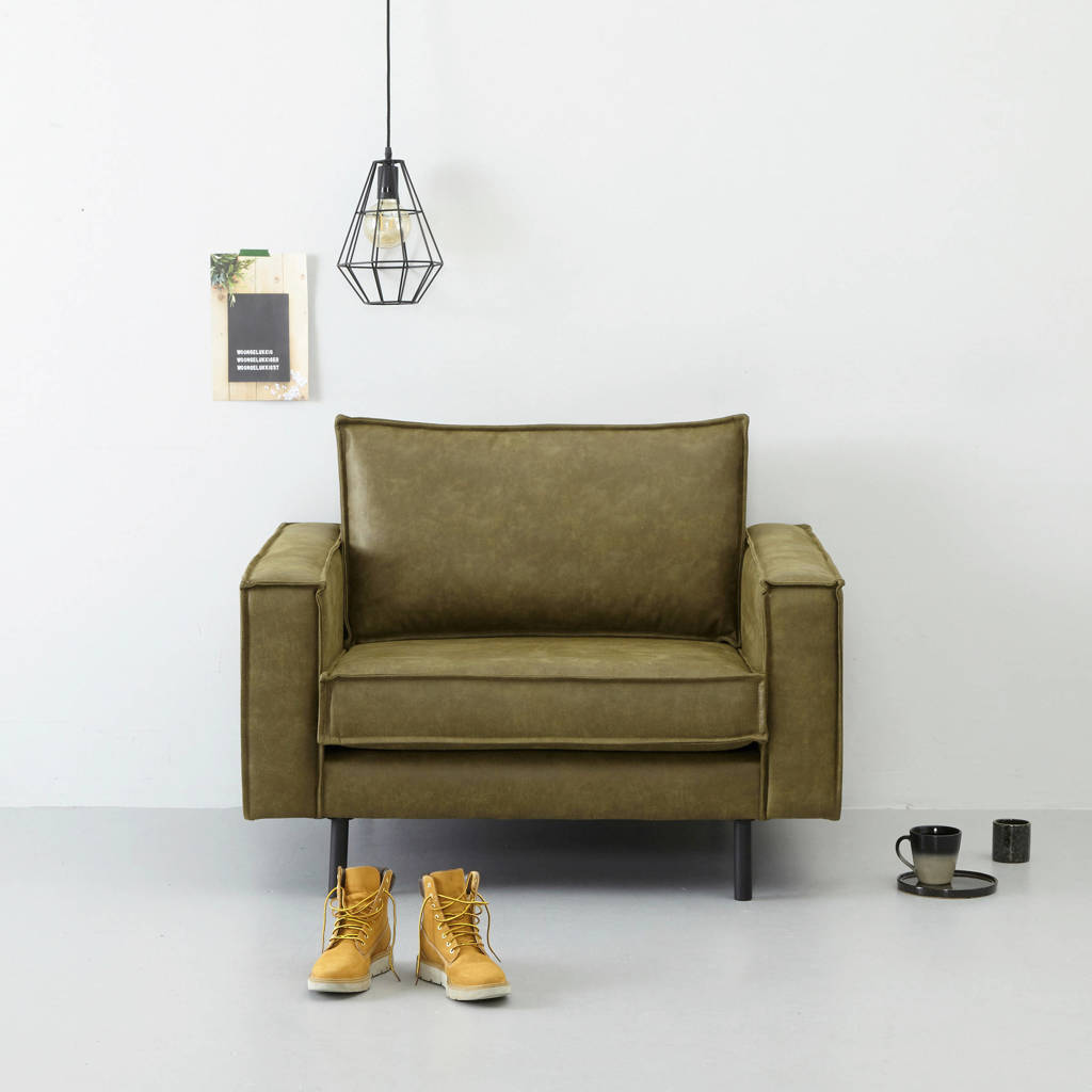 whkmp's own eco-leren loveseat Lexington, Mosgroen